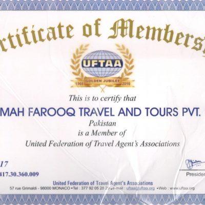 UFFTA Certificate